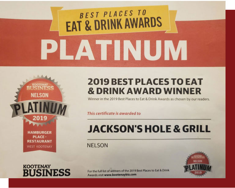 Best Places Winning Burger Platinum
